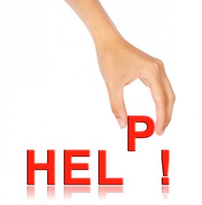 Hand pick up 'P' alphabet from help wording
