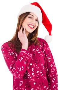 Santa girl in night dress