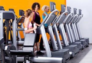 lady instructor in gym